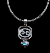 Sterling Silver Cancer Zodiac Necklace