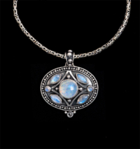 Balinese Rainbow Moonstone Necklace