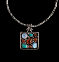 Rainbow Moonstone Multi-Gemstone Necklace