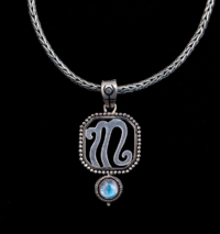 Sterling Silver Scorpio Zodiac Necklace