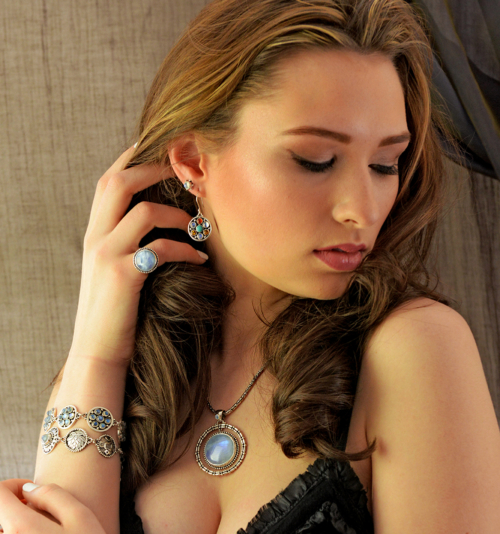 Handcrafted Semi Precious Gemstone Earrings