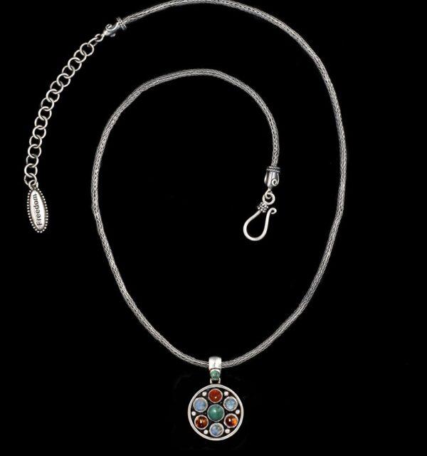 Semi-Precious Gemstone Necklace in Sterling Silver