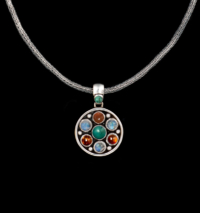 Silver Semi-Precious Gemstone Necklace