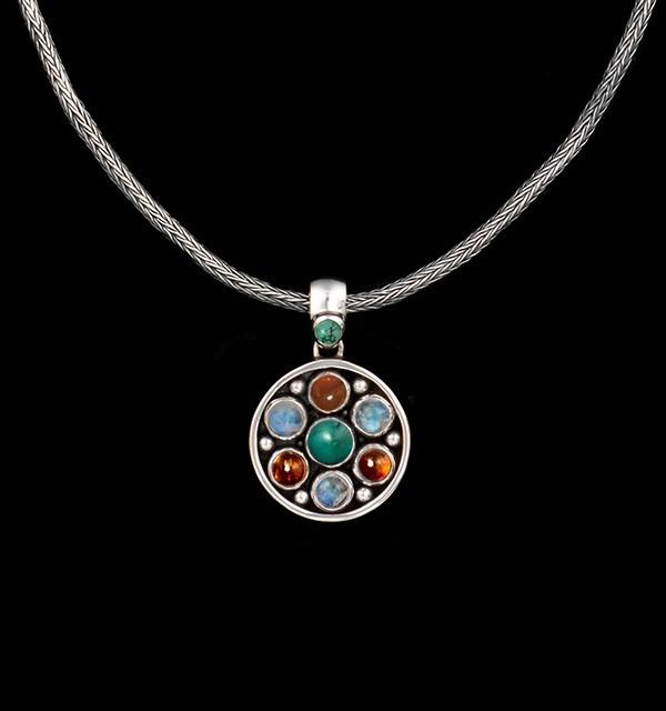 Silver Semi-Precious Gemstone Necklace