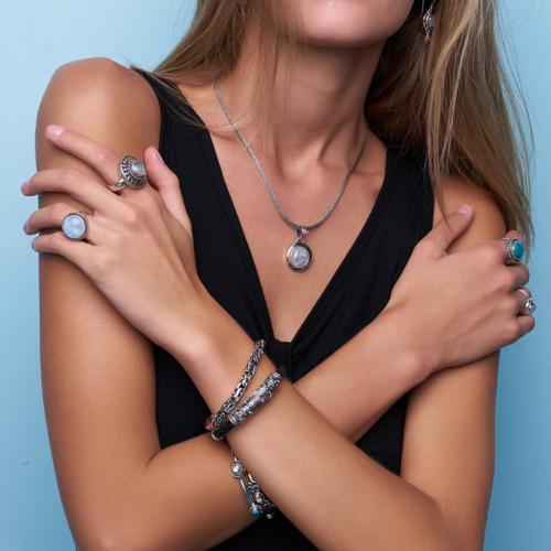 MensSterling Silver Byzantine Bracelet