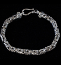 Byzantine Sterling Silver Bracelet handcrafted for men and women