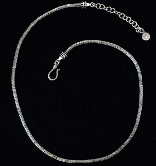 Sterling Silver Foxtail Chain handcrafted in Bali