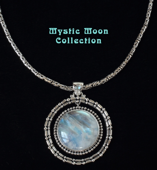 Rainbow Moonstone Jewelry handcrafted in Sterling Silver