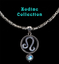 Handcrafted Sterling Silver Zodiac Jewelry with Rainbow Moonstones