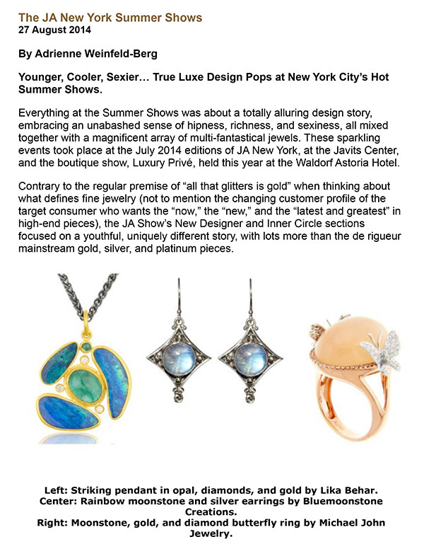 Bluemoonstone Creations Press featured in CIJ International Jewelry Trends & Colours