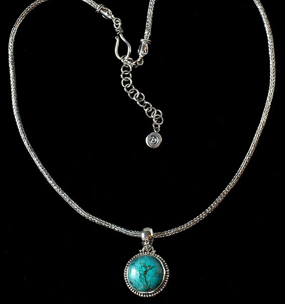 Handcrafted Sterling Silver Turquoise Necklace