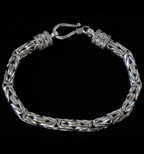 Handcrafted Sterling Silver Byzantine Bracelet for women & men