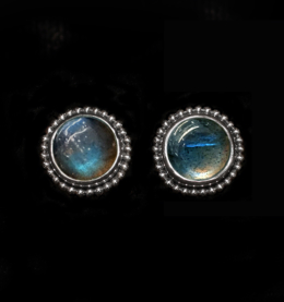 Sterling Silver Labradorite Studs handcrafted in Bali