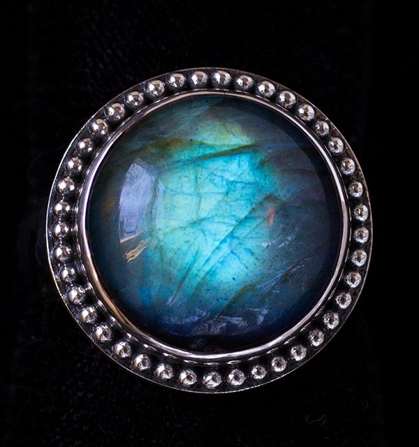 Labradorite Sterling Silver Ring handcrafted in Bali