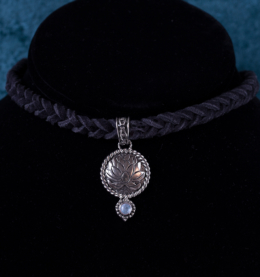 Sterling Silver Moonstone Lotus Choker handcrafted in Bali
