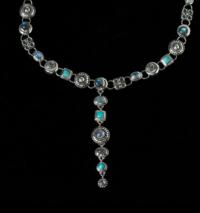 Silver Celestial Multi-Gemstone Choker