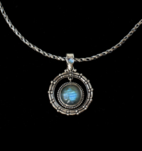Labradorite Rainbow Moonstone Necklace