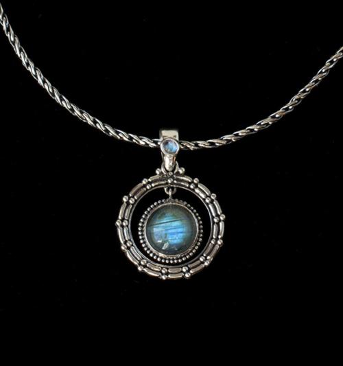 Labradorite Rainbow Moonstone Necklace