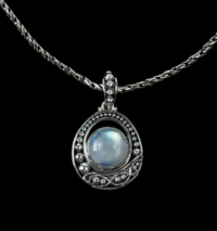 Rainbow Moonstone Balinese Necklace