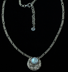Balinese Moonstone Necklace handcrafted in Sterling Silver