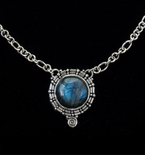 Sterling Silver Labradorite Balinese Necklace