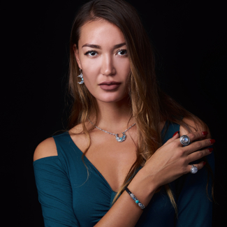 Sterling Silver Sun Moon Jewelry handcrafted with Rainbow Moonstones, Labradorite & Tibetan Turquoise