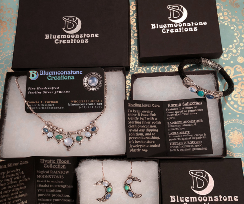Bluemoonstone Creations Gift Boxes and Description Cards