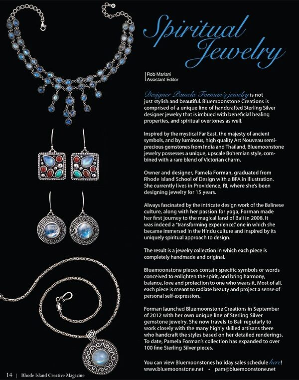 Bluemoonstone Creations featured in RI Creative Magazine