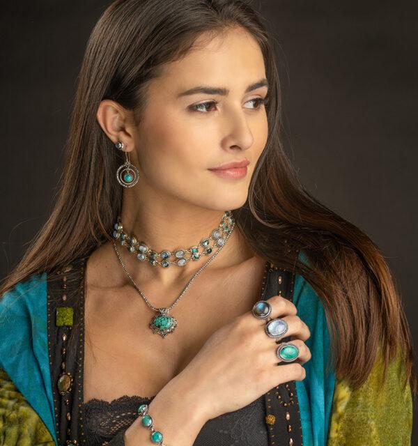 Sterling Silver Tibetan Turquoise Ring
