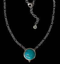 Tibetan Turquoise Necklace handcrafted in Sterling Silver