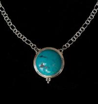 Round Tibetan Turquoise Necklace