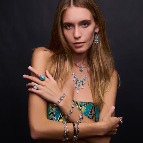 Multi Rainbow Moonstone Bracelet