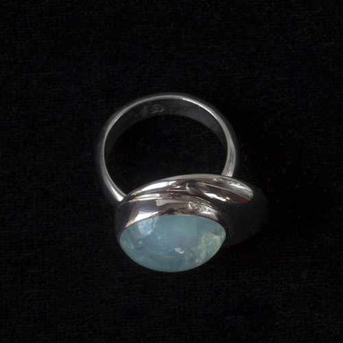 Rainbow Moonstone Moon Ring