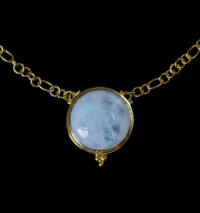 18K Gold Vermeil Rainbow Moonstone Necklace