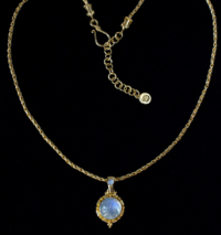 Gold Vermeil Rainbow Moonstone Necklace