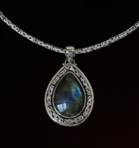 Large Teardrop Labradorite Necklace