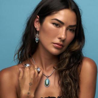 Labradorite, Rainbow Moonstone & Turquoise Jewelry