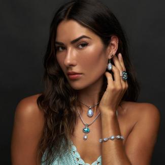 Rainbow Moonstone & Tibetan Turquoise Jewelry