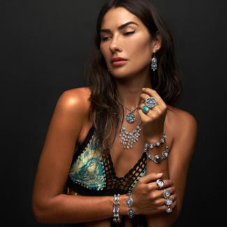 Rainbow Moonstone, Turquoise & Labradorite handcrafted Jewelry