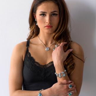 Sterling Silver Moonstone, Labradorite & Turquoise Gemstone Jewelry