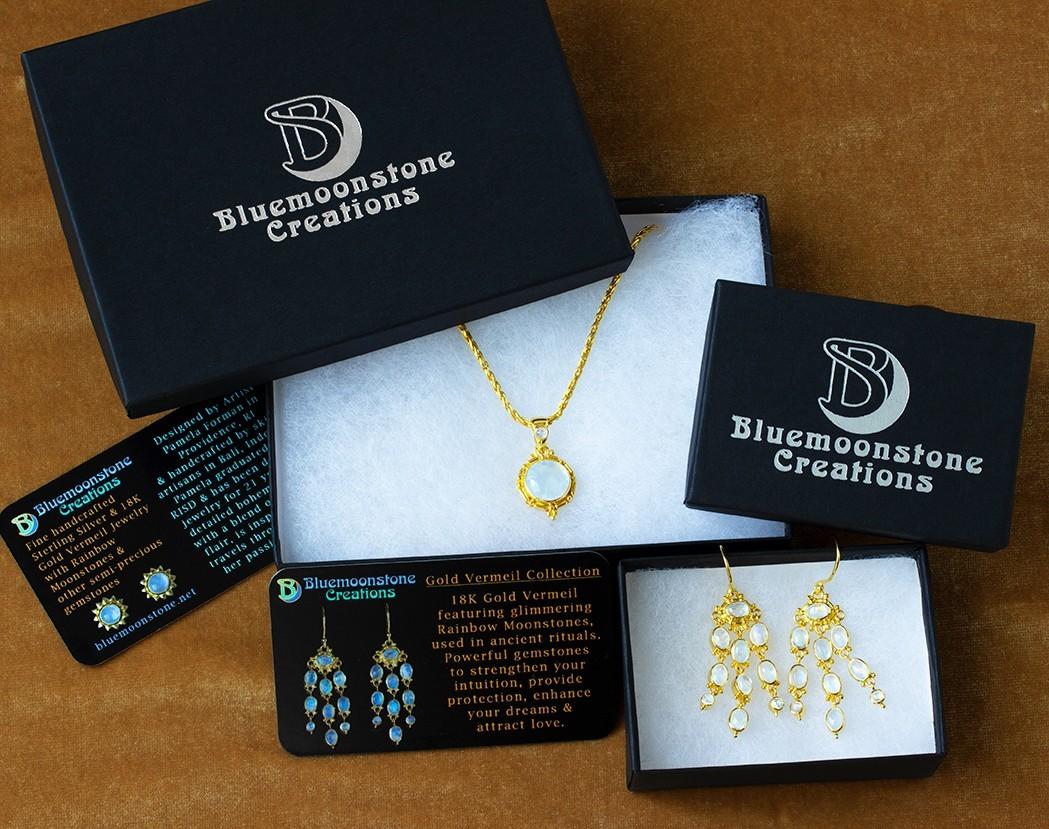 Bluemoonstone Creations Gold Vermeil Gift Box