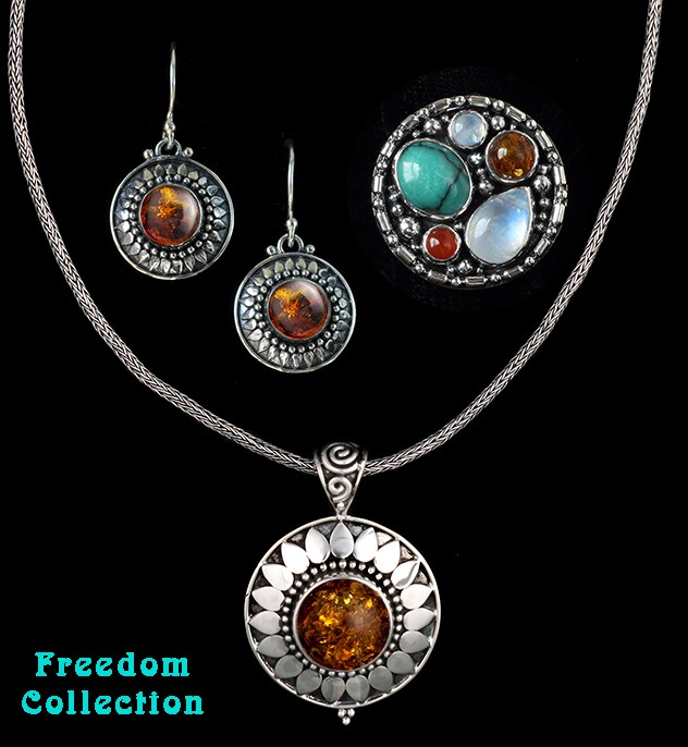Sterling Silver Multi-Gemstone Jewelry
