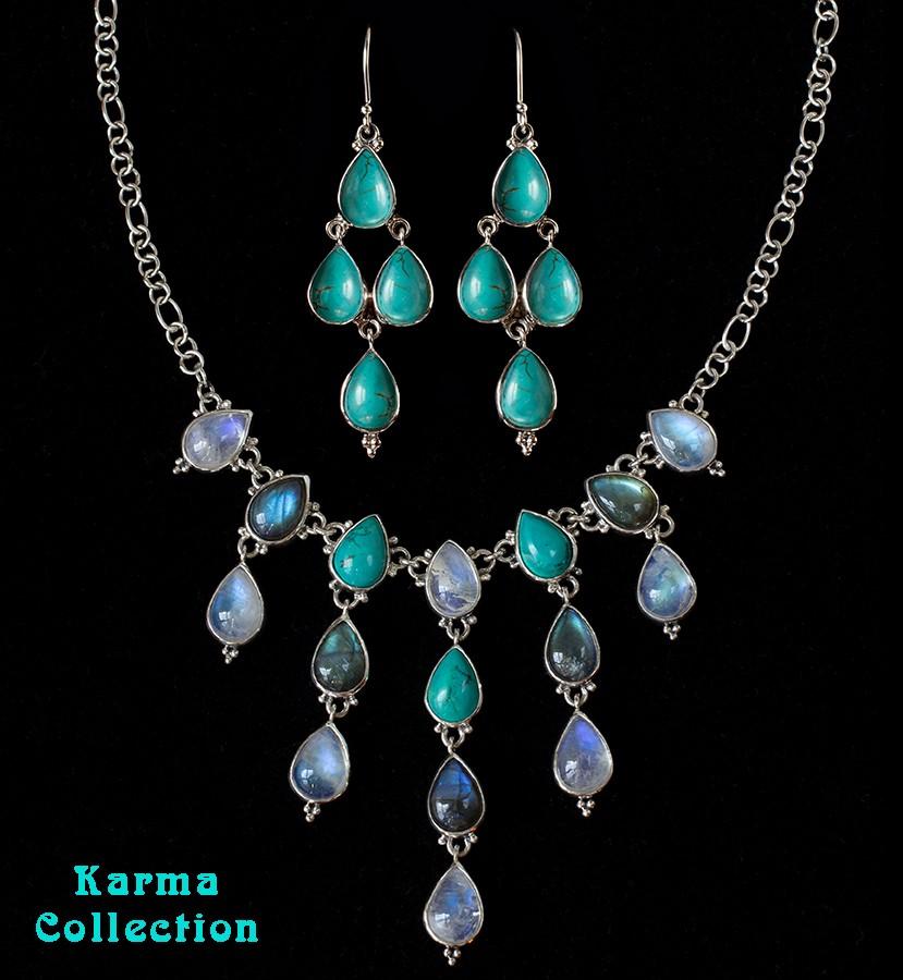 Moonstone Labradorite Turquoise Jewelry