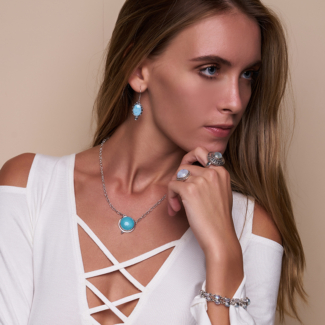 Handcrafted Sterling Silver Larimar Jewelry