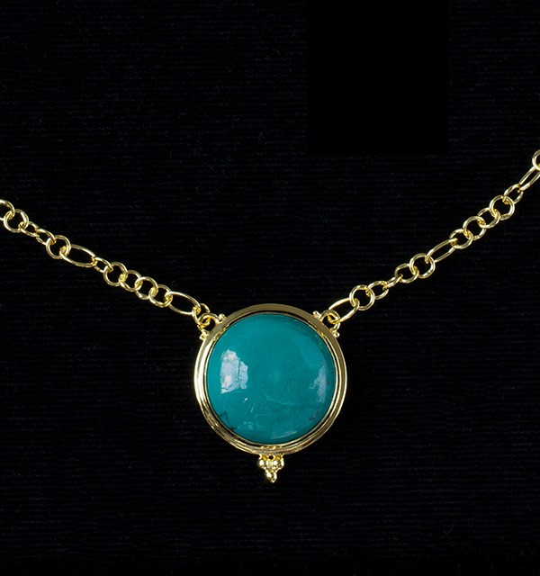 Tibetan Turquoise Gold Necklace