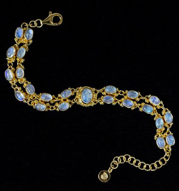 Gold Rainbow Moonstone Bracelet