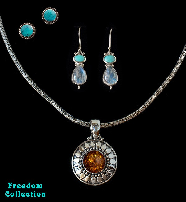 Silver Semi-Precious Gemstone Jewelry